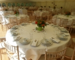Long dinner marquee int. table design close