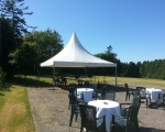 Garden marquee tables and chairs