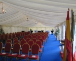Arranged chairs marquee int.