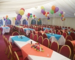 Party tables balloons int.